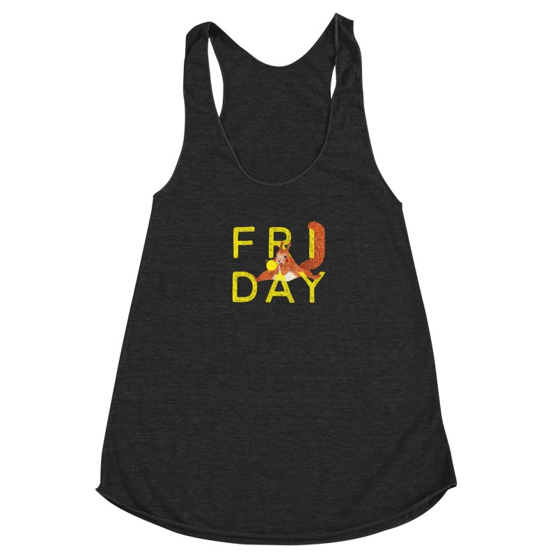 Friday Squirrel Women's Racerback Triblend Tank by Martina Scott's Shop