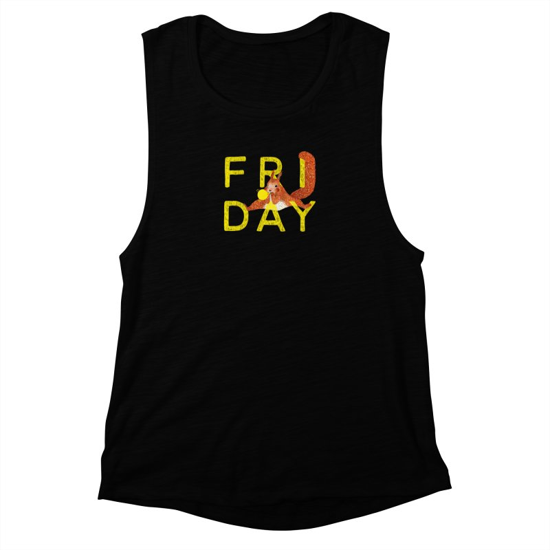 Friday Squirrel Women's Muscle Tank by Martina Scott's Shop