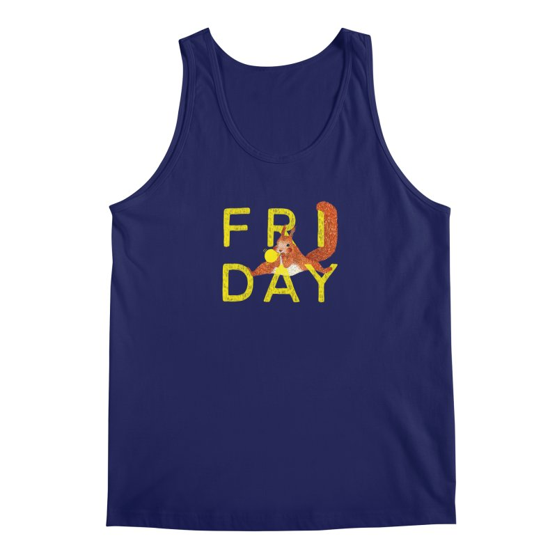 Friday Squirrel Men's Tank by Martina Scott's Shop
