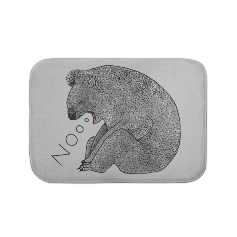 No Koala Home Bath Mat by Martina Scott's Shop