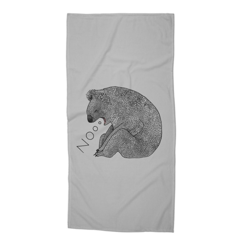 No Koala Accessories Beach Towel by Martina Scott's Shop