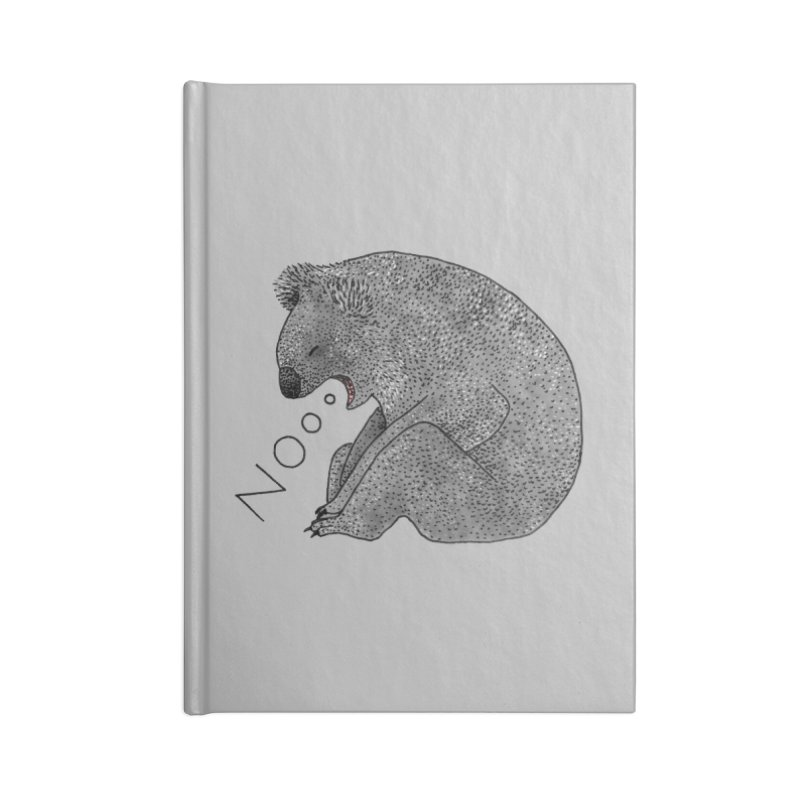 No Koala Accessories Notebook by Martina Scott's Shop