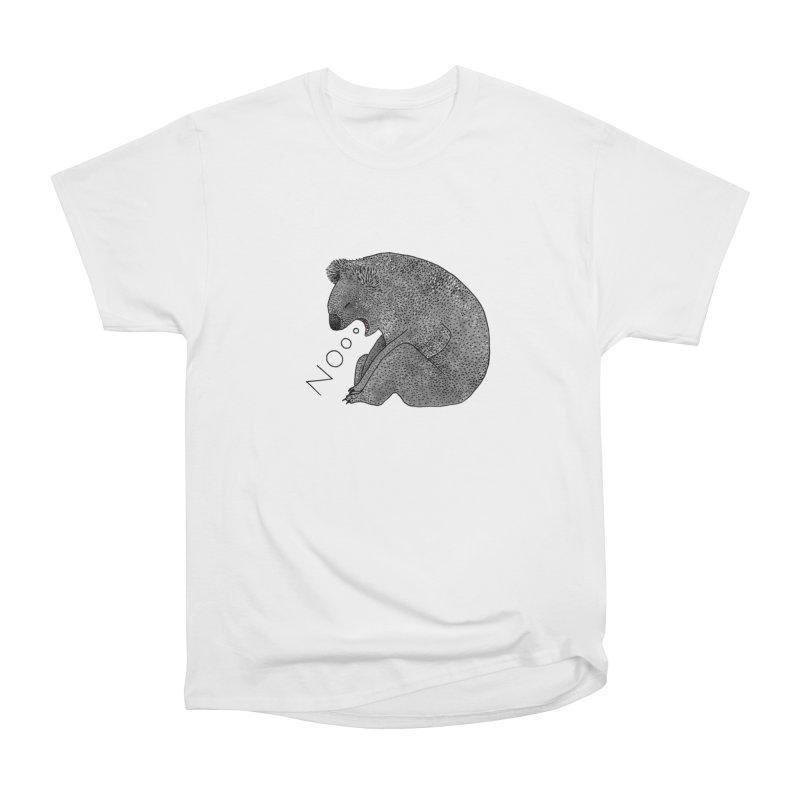 No Koala Men's Heavyweight T-Shirt by Martina Scott's Shop