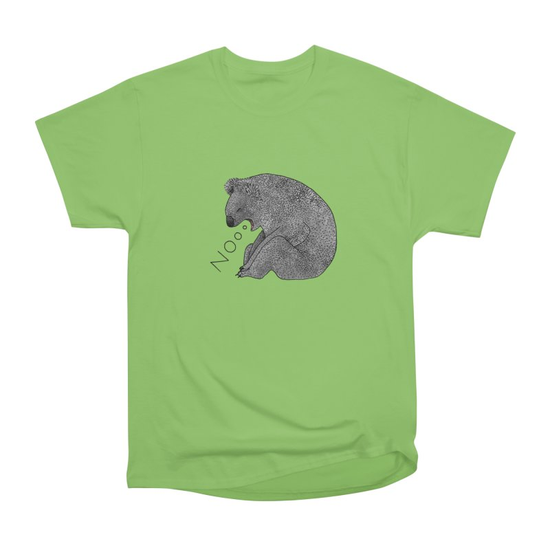 No Koala Men's Heavyweight T-Shirt by Martina Scott's Shop