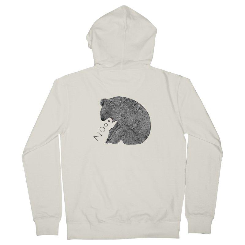 No Koala Men's Zip-Up Hoody by Martina Scott's Shop
