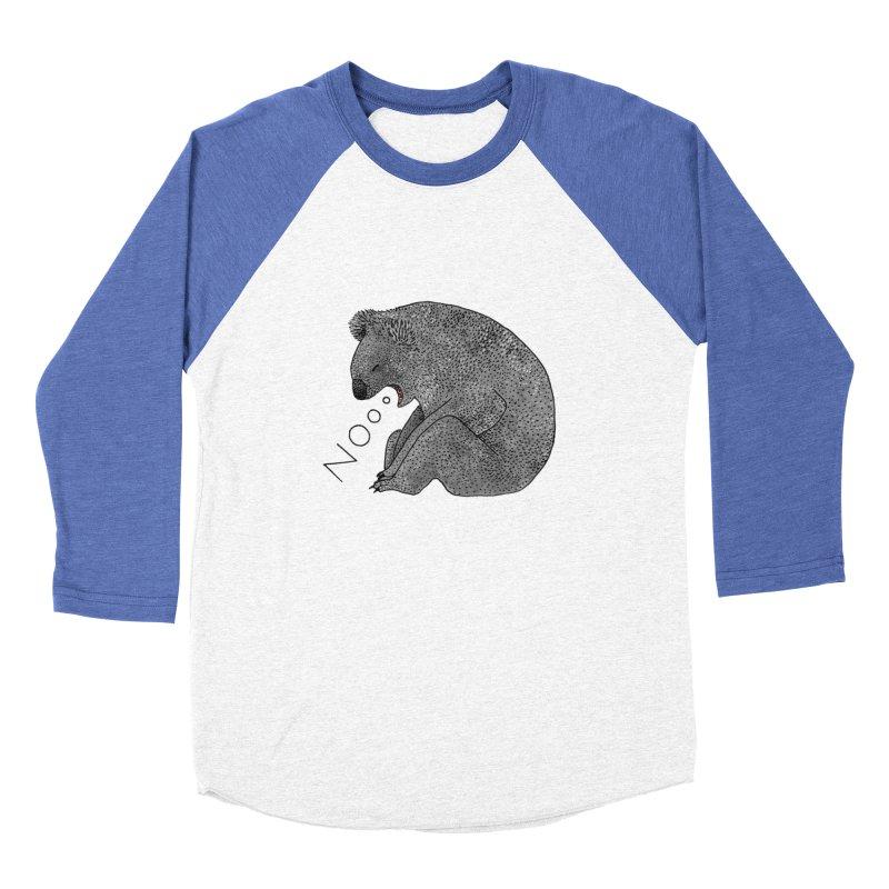 No Koala Women's Baseball Triblend Longsleeve T-Shirt by Martina Scott's Shop