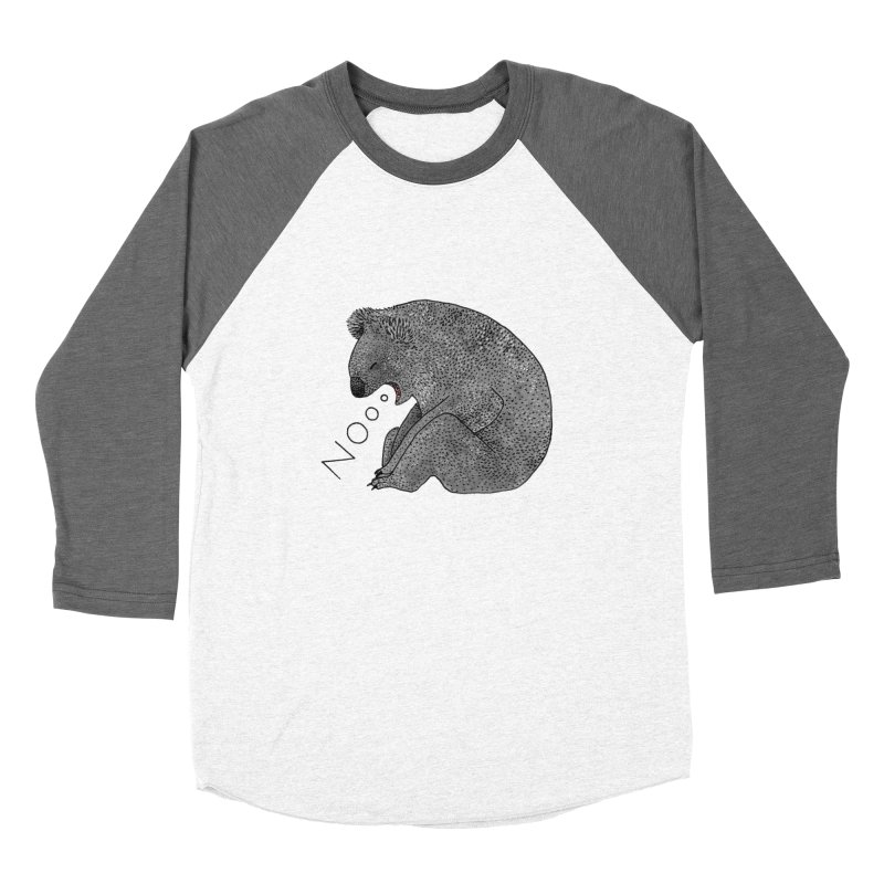 No Koala Women's Baseball Triblend T-Shirt by Martina Scott's Shop