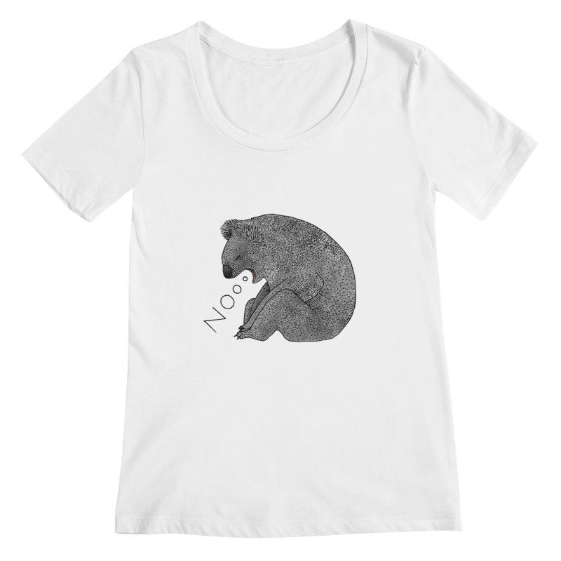 No Koala Women's Regular Scoop Neck by Martina Scott's Shop