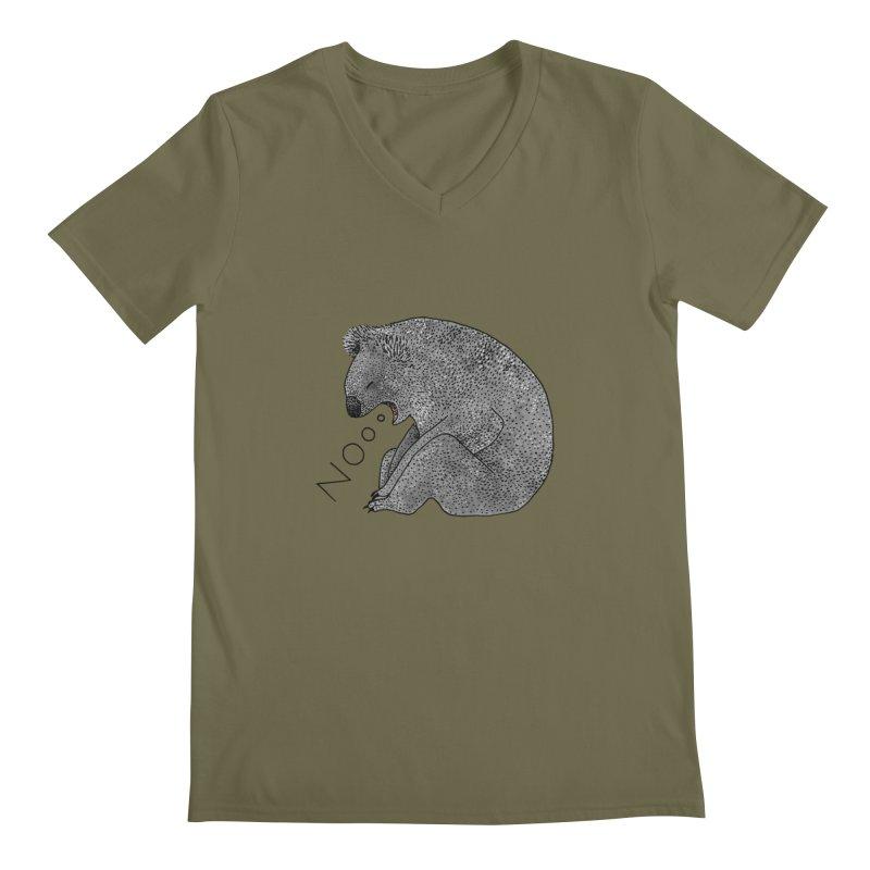 No Koala Men's Regular V-Neck by Martina Scott's Shop