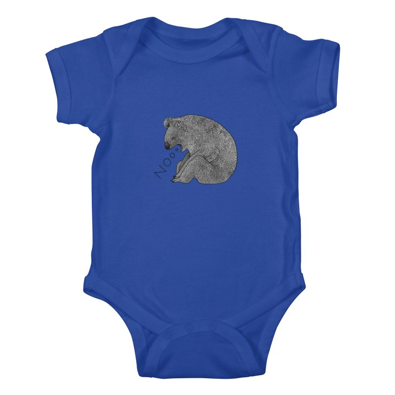 No Koala Kids Baby Bodysuit by Martina Scott's Shop