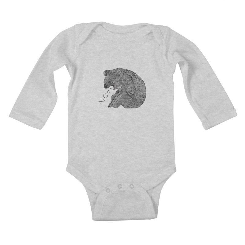 No Koala Kids Baby Longsleeve Bodysuit by Martina Scott's Shop