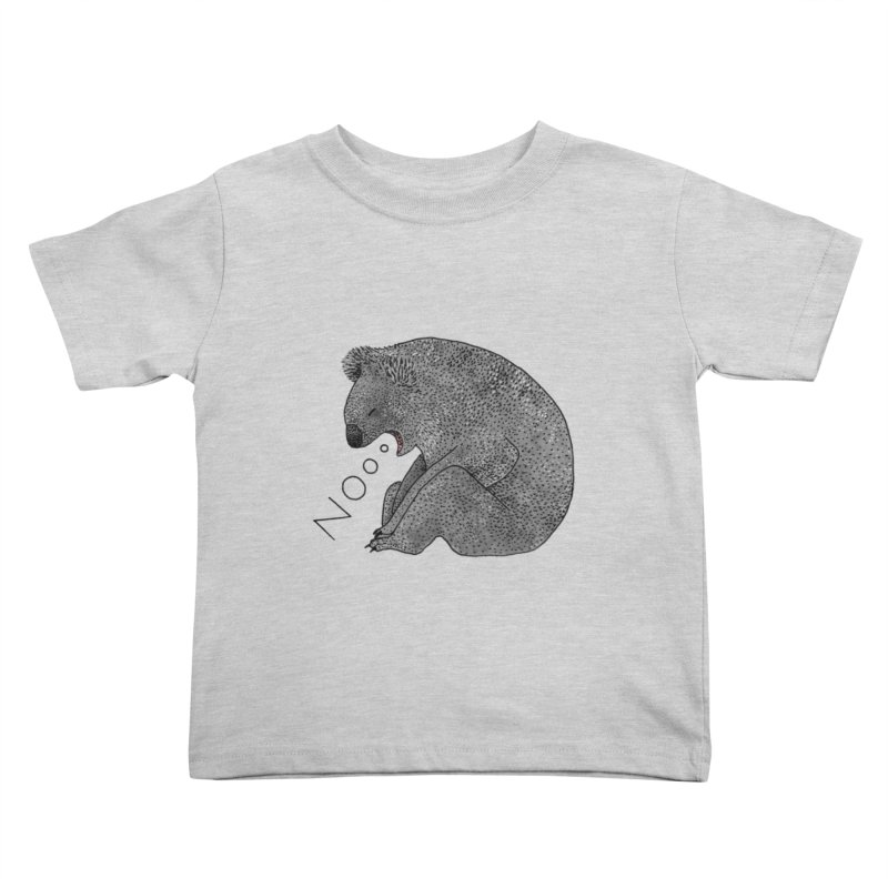 No Koala Kids Toddler T-Shirt by Martina Scott's Shop