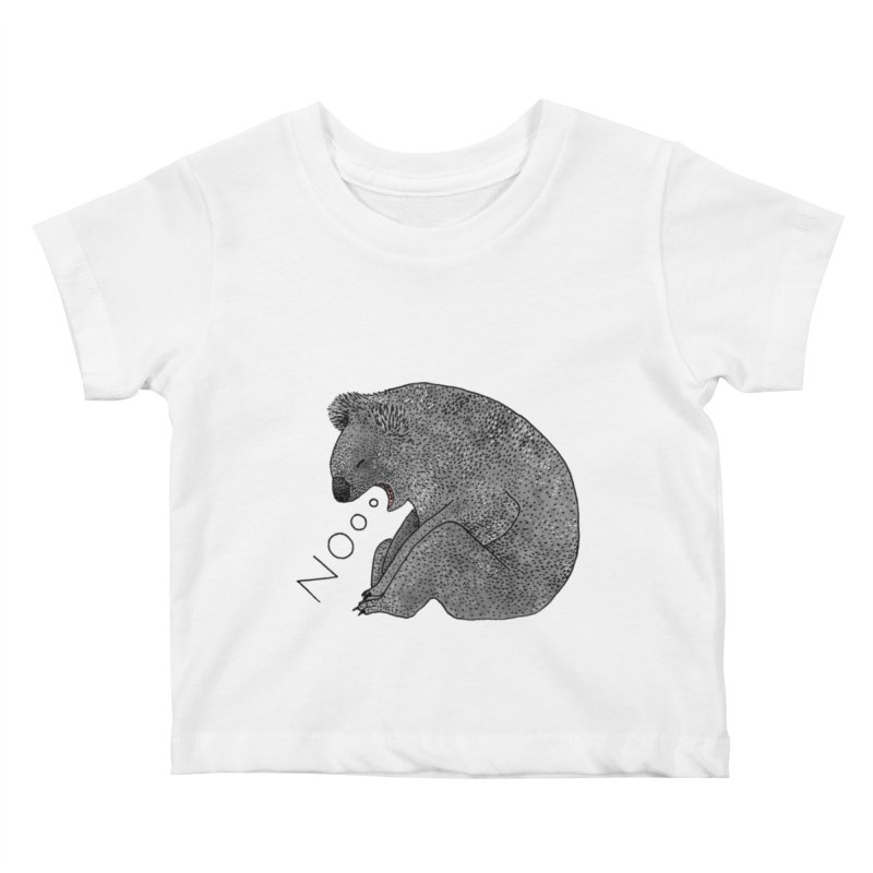 No Koala Kids Baby T-Shirt by Martina Scott's Shop