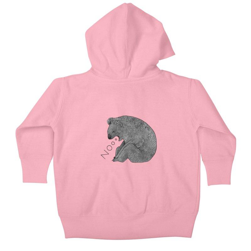 No Koala Kids Baby Zip-Up Hoody by Martina Scott's Shop