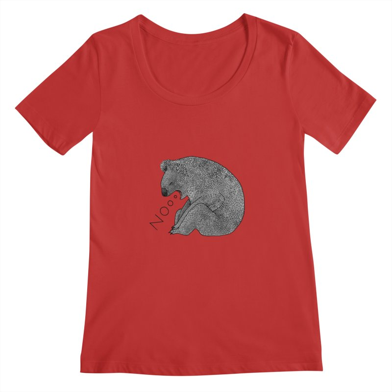 No Koala Women's Scoopneck by Martina Scott's Shop
