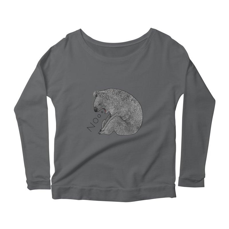 No Koala Women's Longsleeve Scoopneck  by Martina Scott's Shop