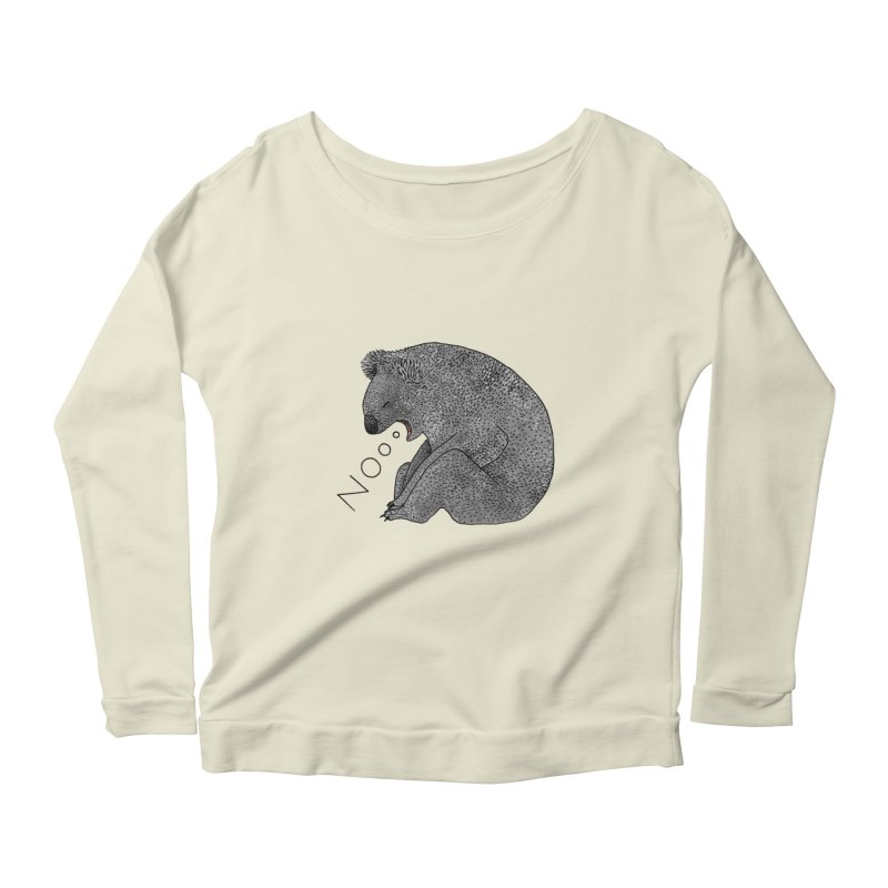 No Koala Women's Scoop Neck Longsleeve T-Shirt by Martina Scott's Shop