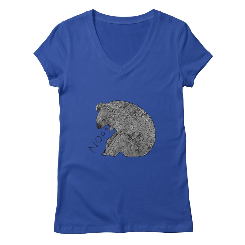 No Koala Women's Regular V-Neck by Martina Scott's Shop