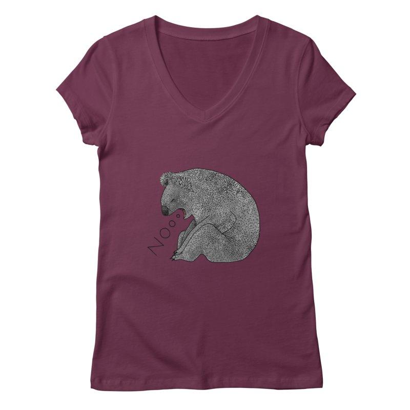 No Koala Women's V-Neck by Martina Scott's Shop