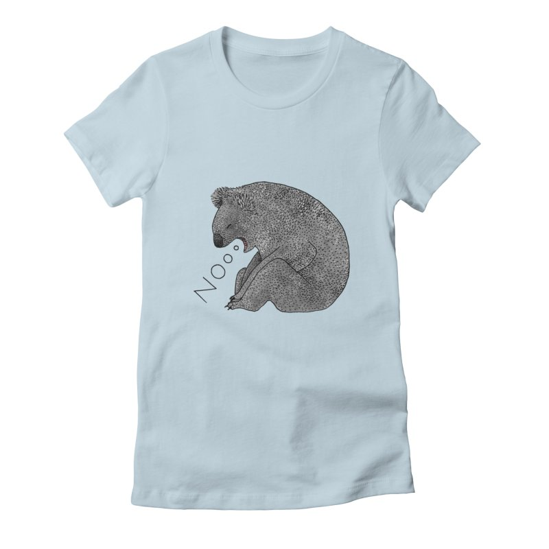 No Koala Women's Fitted T-Shirt by Martina Scott's Shop