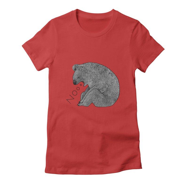 No Koala Women's Fitted T-Shirt by Martina Scott's Shop