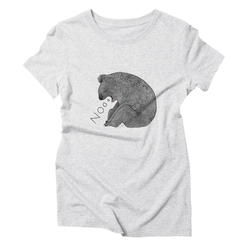 No Koala Women's Triblend T-Shirt by Martina Scott's Shop