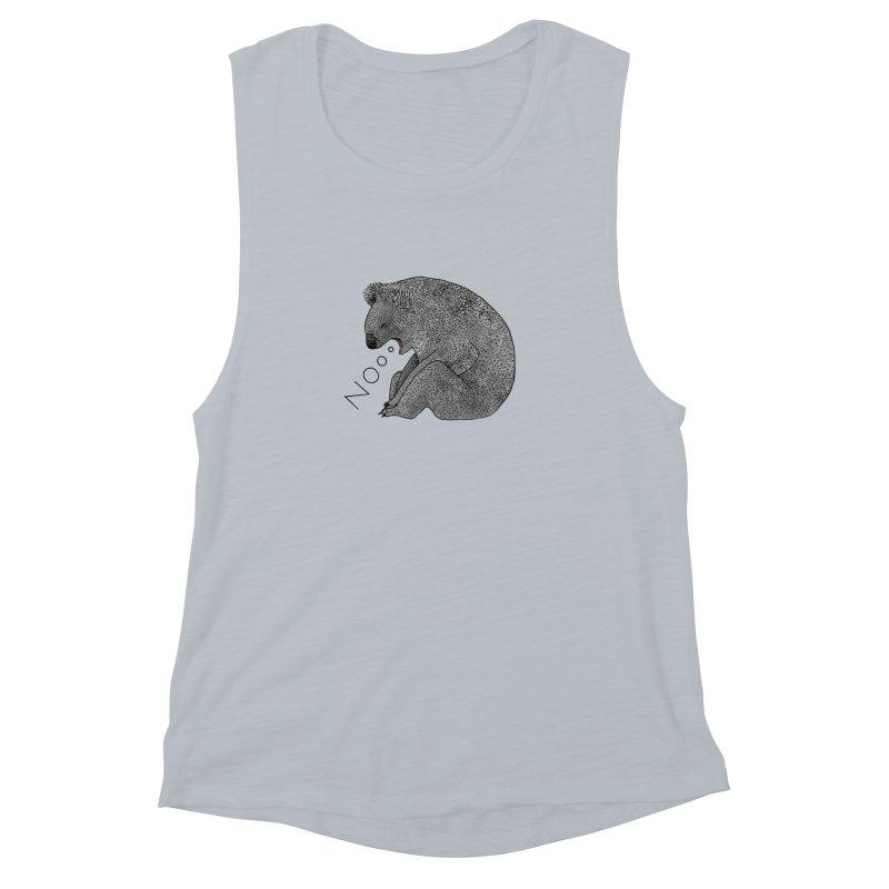 No Koala Women's Muscle Tank by Martina Scott's Shop