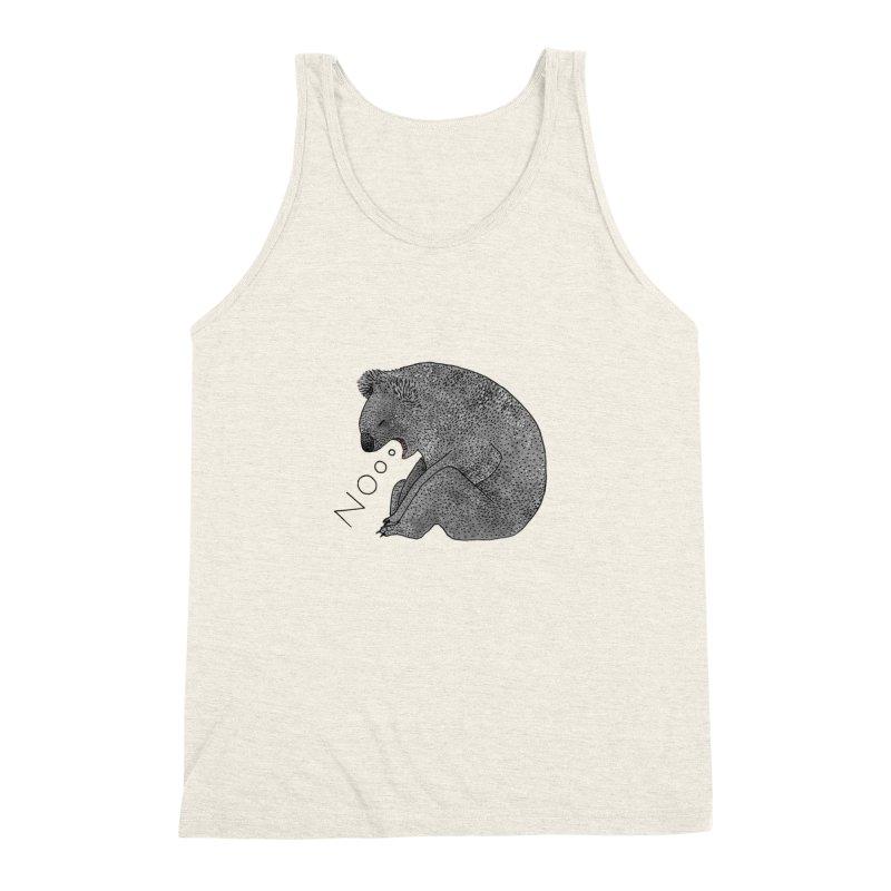 No Koala Men's Triblend Tank by Martina Scott's Shop