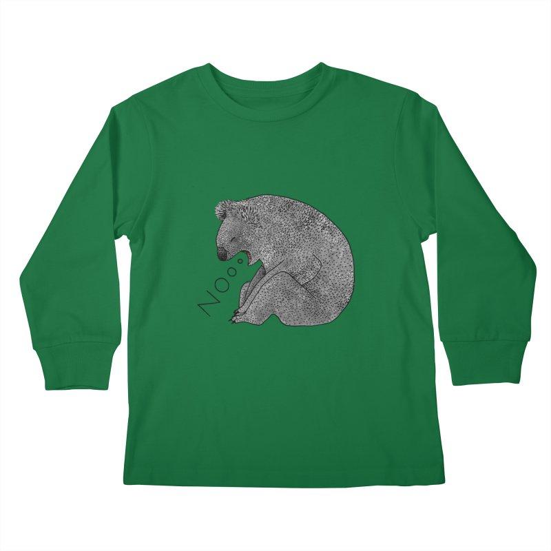 No Koala Kids Longsleeve T-Shirt by Martina Scott's Shop