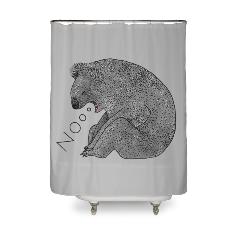 No Koala Home Shower Curtain by Martina Scott's Shop
