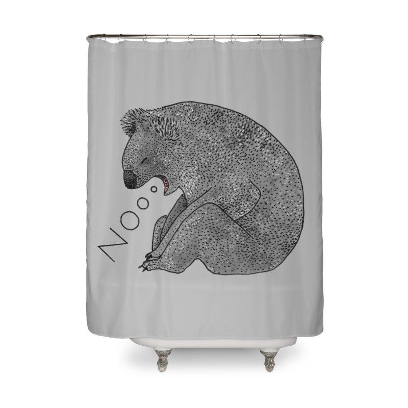 No Koala Home Shower Curtain by Martina Scott's Shop