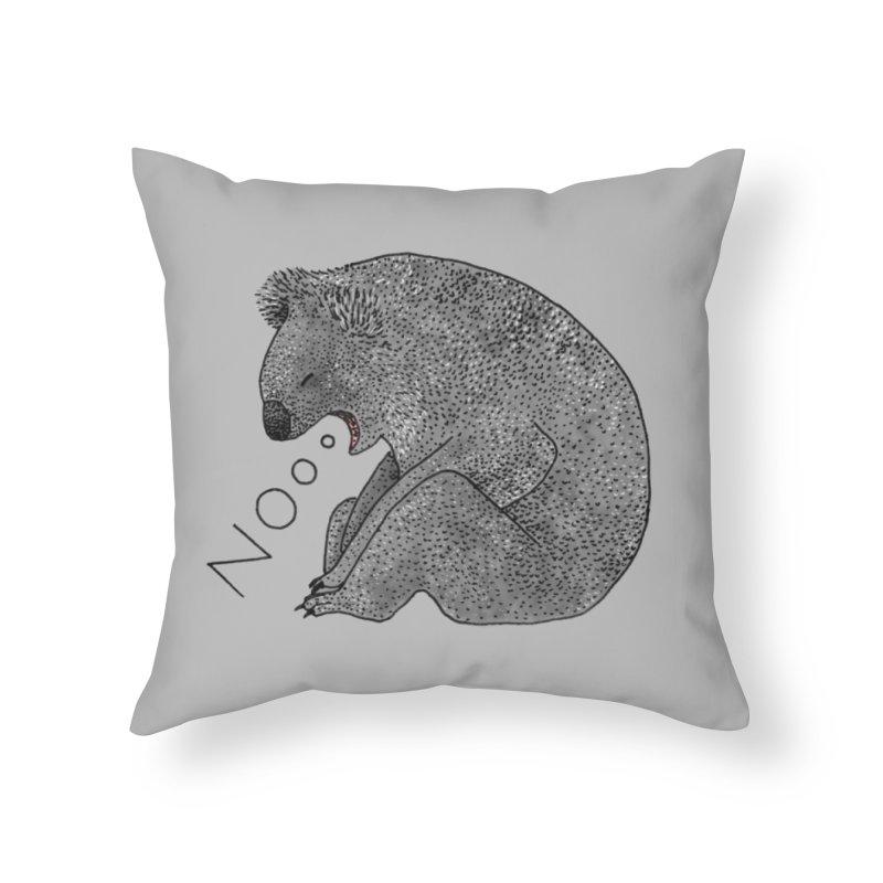 No Koala Home Throw Pillow by Martina Scott's Shop