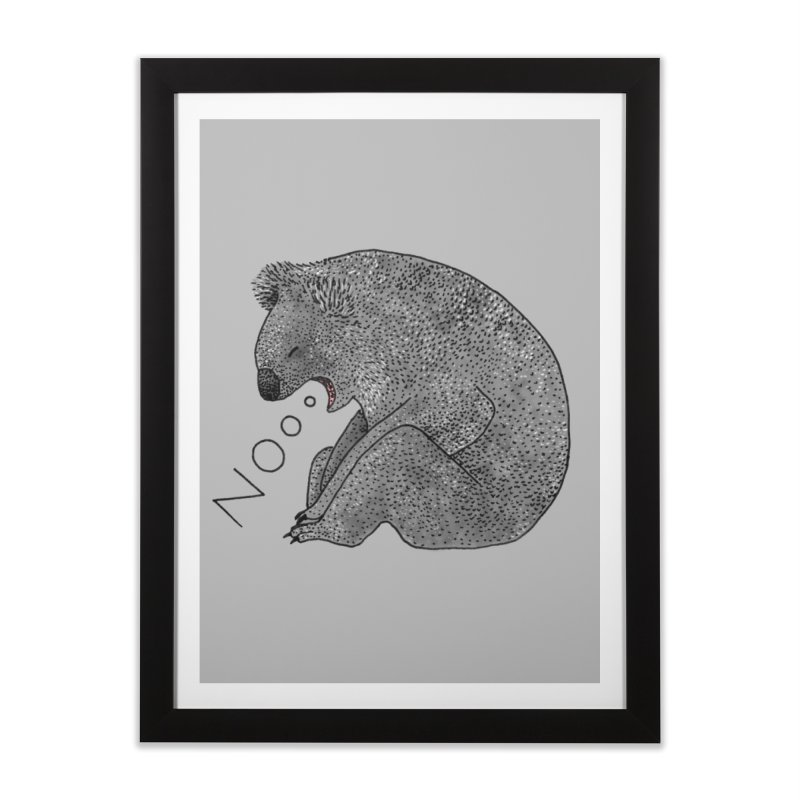 No Koala Home Framed Fine Art Print by Martina Scott's Shop