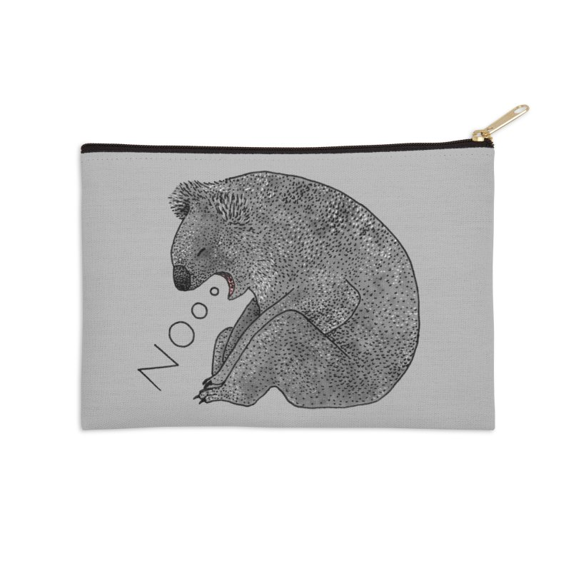 No Koala Accessories Zip Pouch by Martina Scott's Shop