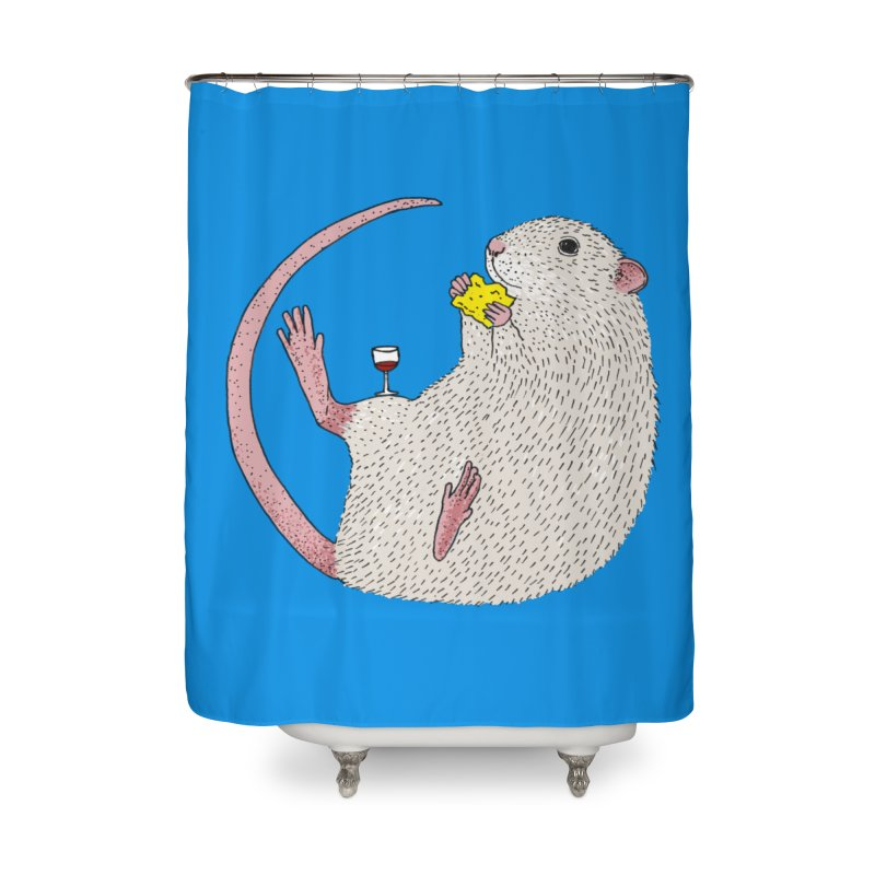 Nibbles Home Shower Curtain by Martina Scott's Shop