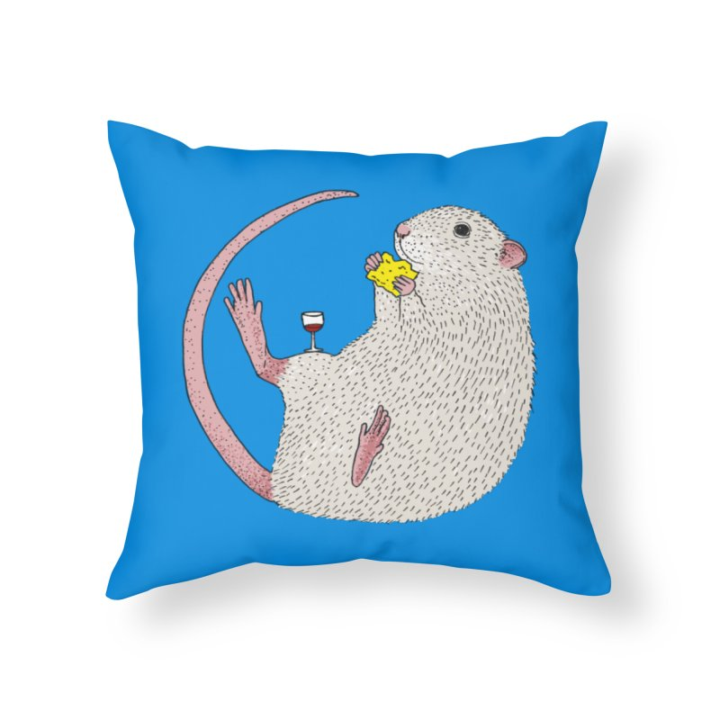 Nibbles Home Throw Pillow by Martina Scott's Shop
