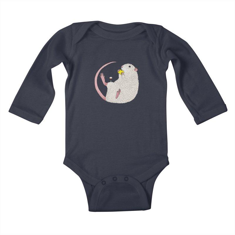 Nibbles Kids Baby Longsleeve Bodysuit by Martina Scott's Shop