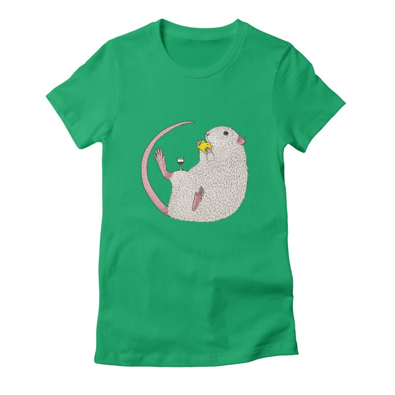 Nibbles Women's Fitted T-Shirt by Martina Scott's Shop