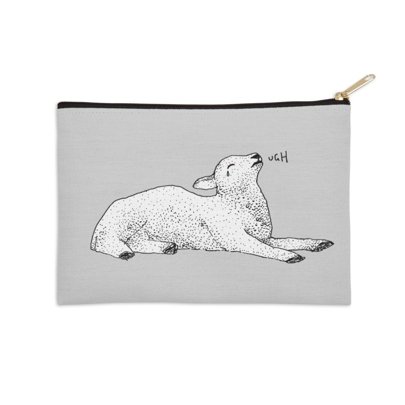 Exasperated Lamb Accessories Zip Pouch by Martina Scott's Shop