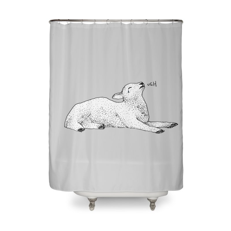 Exasperated Lamb Home Shower Curtain by Martina Scott's Shop