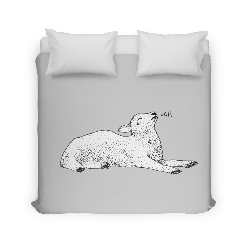 Exasperated Lamb Home Duvet by Martina Scott's Shop