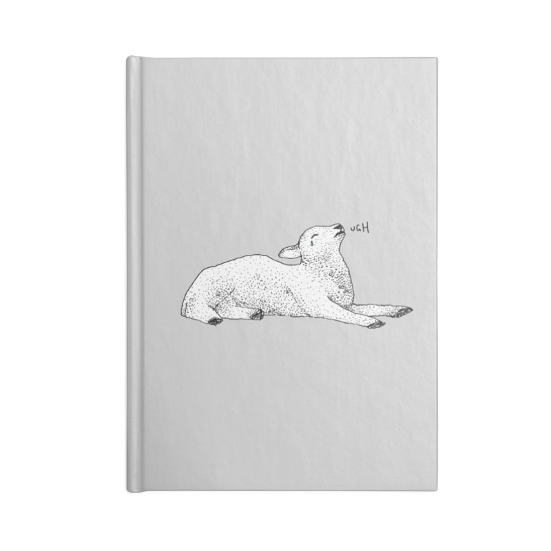 Exasperated Lamb Accessories Notebook by Martina Scott's Shop
