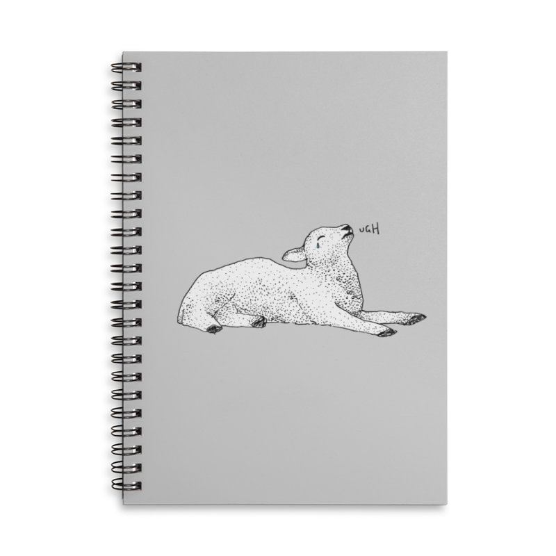 Exasperated Lamb Accessories Lined Spiral Notebook by Martina Scott's Shop
