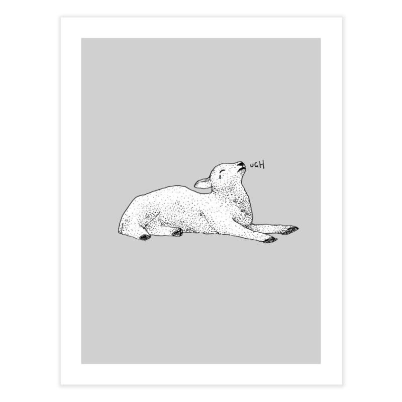 Exasperated Lamb Home Fine Art Print by Martina Scott's Shop