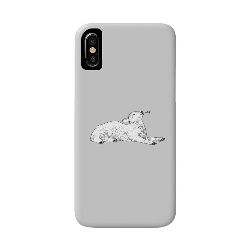 Exasperated Lamb Accessories Phone Case by Martina Scott's Shop