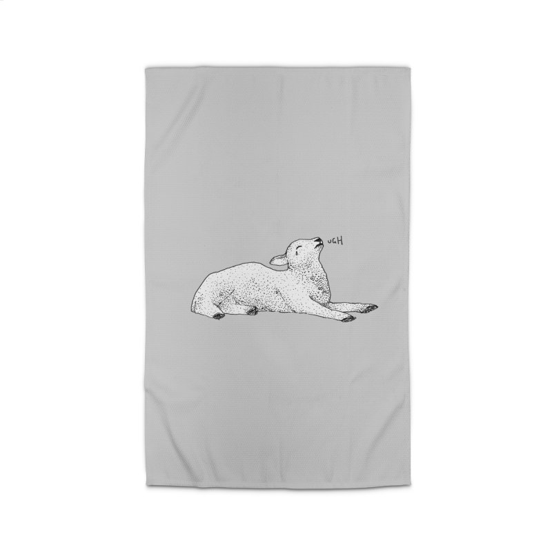 Exasperated Lamb Home Rug by Martina Scott's Shop