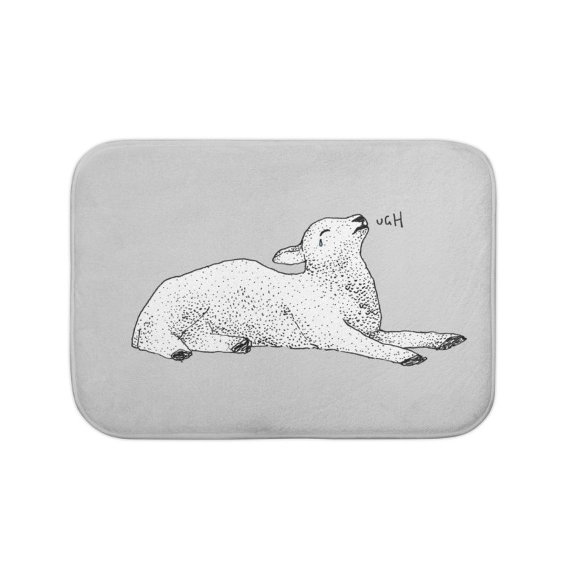 Exasperated Lamb Home Bath Mat by Martina Scott's Shop