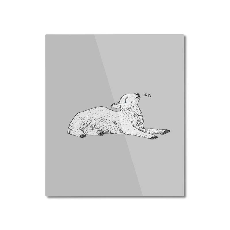 Exasperated Lamb Home Mounted Aluminum Print by Martina Scott's Shop
