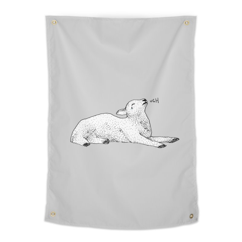 Exasperated Lamb Home Tapestry by Martina Scott's Shop