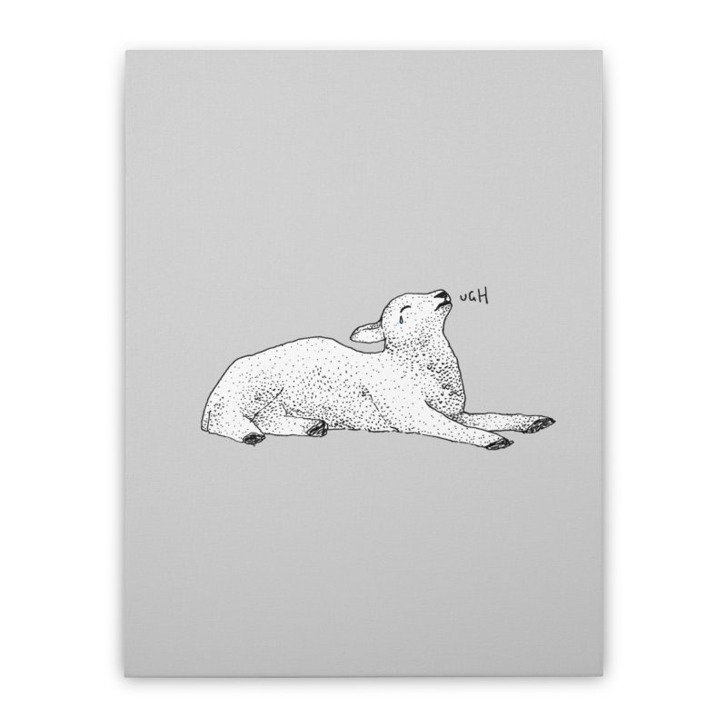 Exasperated Lamb Home Stretched Canvas by Martina Scott's Shop